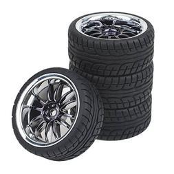 Shaluoman 12-Spoke Plating Hub Wheel Rims With Soft Rubber T