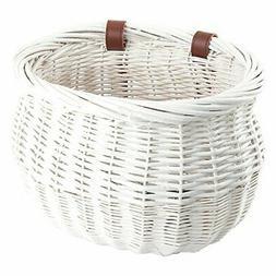 Sunlite Willow Bushel Strap-On Basket, 9.75 x 6 x 7.5, White