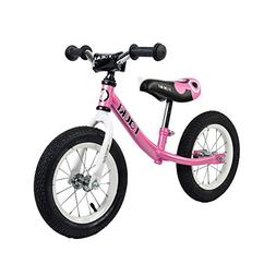 Tauki Kid Balance Bike No Pedal Push Bicycle, 12 Inch, Pink,