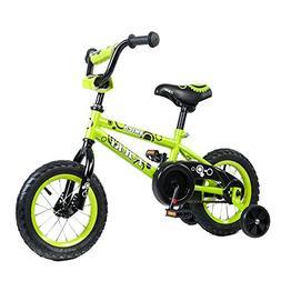 Tauki Kid Bike BMX Bike for Boys and Girls, 12 Inch, Lime, 9