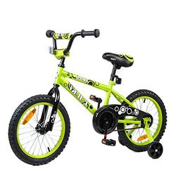 Tauki Kid Bike BMX Bike for Boys and Girls, 16 Inch, Lime, 9