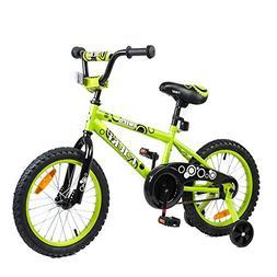 Tauki Kid Bike BMX Bike for Boys and Girls, 16 Inch, Lime, 9