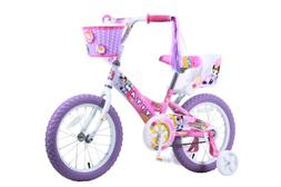 Pink Doll Bike Seat White Oxford Doll Carrier with Girl and Flowers