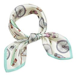 Women's Small Square 100% Real Mulberry Silk Scarfs Scarves