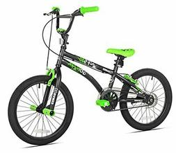 X Games FS-18 BMX/Freestyle Bicycle, 18-Inch, Black/Green
