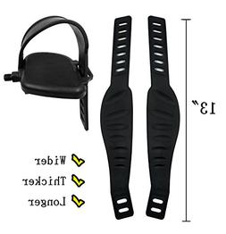 A Pair Exercise Bike Pedal Straps And Widened For Spinning B