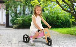 Adjustable Kids Wooden Balance Bike Toddler Baby Walk Traine