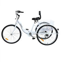 """Ridgeyard 26"""" 7-Speed Adult 3-Wheel Tricycle Trike Bicycle B"""