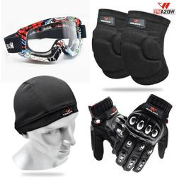 Adult Cycling Protective Gear Kneepads Gloves Goggles MTB Bi