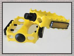 "Alloy Yellow 9/16"" Bike Bicycle Pedal for Track Fixie BMX MT"