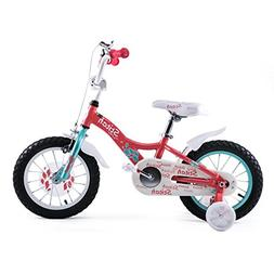 "Joystar 14"" Aluminum Kids Bike with Training Wheels For Girl"