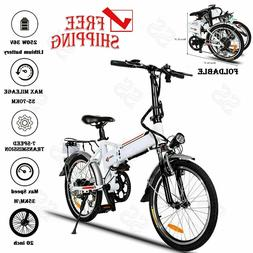 """Ancheer 20"""" Aluminum Alloy Foldable Electric Mountain Bicycl"""
