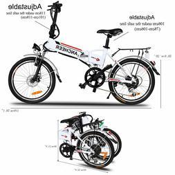 "Ancheer 20"" Folding Electric Mountain Bike City Bicycle Ebik"
