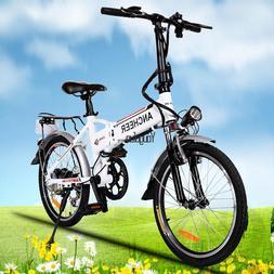Ancheer 36V Mountain Bike Fat Tire Electric Bike 27 Speed eB