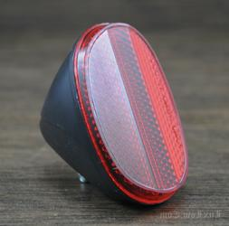 Angled Red Bike REFLECTOR Housing Vintag