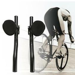 Arm Rest Brackets With Pads For Aerobars Bike Set of 2 Black