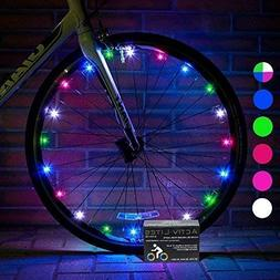 Awesome LED Bicycle Wheel Lights 2 Tires Multi-color Best Xm