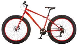 New Mongoose Aztec Fat Tire Bicycle Red Comfortable Athletic