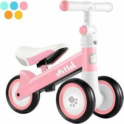 Jollito Baby Balance Bike, Toddler Baby Bicycle with 4 Wheel