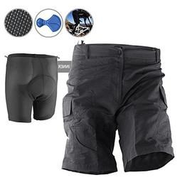 Baggy Bike Bicycle Cycling Knicks Padded Shorts inner remova