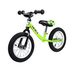Tauki Kid Balance Bike No Pedal Push Bicycle, 12 Inch, Green