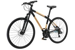 Bamboo EcoCross hybrid 21 speed bicycle - by Greenstar Bike