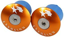 Fyxation Bar End Anodized Plugs, Orange