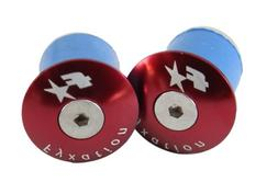 Fyxation Bar End Plugs, Red