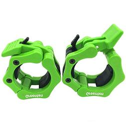 Greententljs 2 Inch Barbell Clamps Quick Release Pair Lockin