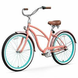 sixthreezero Women's 3-Speed Beach Cruiser Bicycle, Paisley