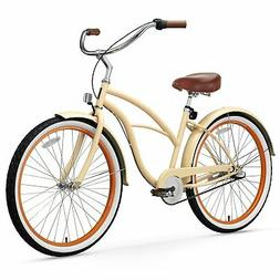 sixthreezero Women's 3-Speed 26-Inch Beach Cruiser Bicycle,