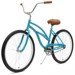 Critical Cycles Women's Beach Cruiser 1-Speed Bike, Turquois