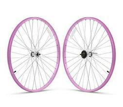 "Firmstrong Beach Cruisers Wheelset Front Rear 26"" Pink"