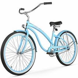 Women's Bella Classic Beach Cruiser Bike, Baby Blue