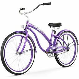 Firmstrong Bella Classic Single Speed Beach Cruiser Bicycle,