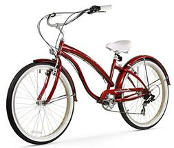 Firmstrong Bella Fashionista 7-Speed Beach Cruiser Bicycle,