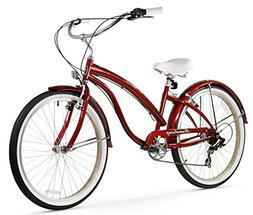 Firmstrong Bella Fashionista 7-Speed Beach Cruiser Bicycle,