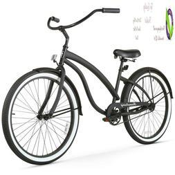 bella women s beach cruiser bicycle