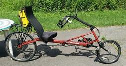 Bacchetta Bellandare Recumbent Bike Bicycle 27 Speed + Back