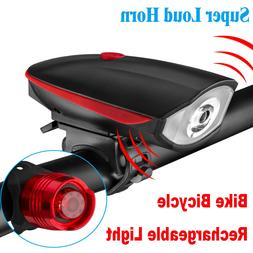 USB Rechargeable LED Bicycle Headlight Bike Head Light Cycli