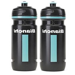 Bianchi Bike Elite Loli Cycling Water Bottles 600ml Black/Ce