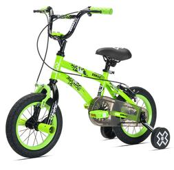 "12"" X-Games Boys' Bicycle, Green"