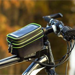 Bicycle Bag Frame Pannier Front Tube Waterproof Bike Mobile