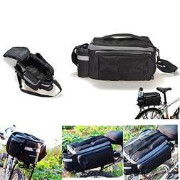 Bicycle Bike Cycling Rear Seat Trunk Rack Bag Panniers Shoul
