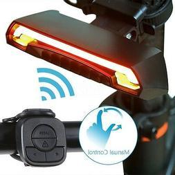 Bicycle Bike Rear LED Tail Light Wireless USB Remote Control