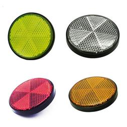 Bicycle Bike Round Reflector Safety Night Cycling Reflective