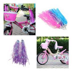2 Pair Bike Bicycle Cycling Tricycle Girls Boys Handlebar Streamers Tassels KW