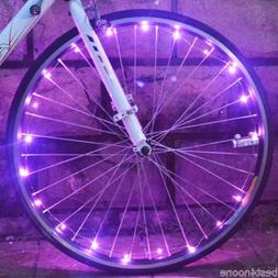 Bicycle Cycling 20 LEDs Safety Spoke Wheel Light Colorful Co
