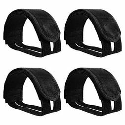 Willbond 2 Pairs Bicycle Feet Strap Pedal Straps for Fixed G