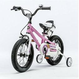Bicycle for Kids Pink 18 Inch Little Child Girls First Train